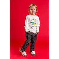 """Толстовка для мальчика MINAKU """"Динозавры"""", рост 116-122 см, цвет серый"""