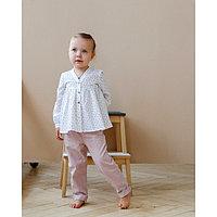 Блузка для девочки MINAKU, рост 98 см, цвет белый
