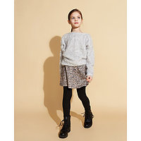 Свитер для девочки MINAKU, рост 128-134 см, цвет серый