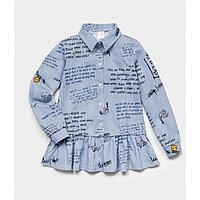 Рубашка для девочки, цвет голубой, рост 146 см
