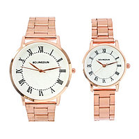 """Часы наручные, """"Олимпиас"""", парный набор для нее и для него, золотые"""