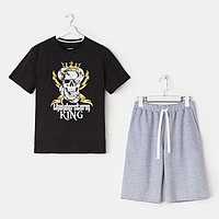 "Пижама мужские KAFTAN ""King"" р-р 3XL (56), серый/чёрный"