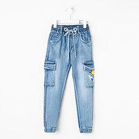Джинсы-джоггеры для мальчика, цвет голубой, рост 104 см