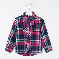 Рубашка для девочки, цвет малиновый, рост 122 см
