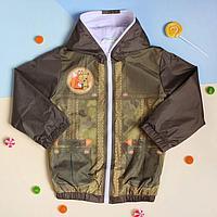 """Куртка для мальчика Collorista """"Лис"""", рост 98-104 см (30), 3-4 года + рюкзак"""