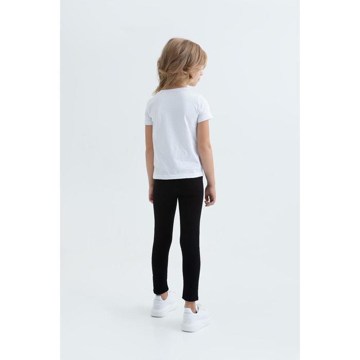 Лосины для девочки цвет чёрный,рост 134 - фото 3
