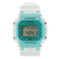 """Часы наручные электронные """"Самнер"""", спортивные, влагозащищенные, синие"""