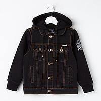 Куртка для девочки, цвет чёрный, рост 110 см