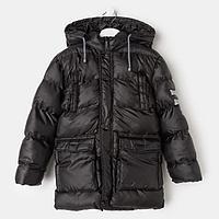 Куртка для мальчика, цвет чёрный, рост 134 см