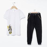 """Пижама для мальчика MINAKU """"Робот"""", рост 98-104, цвет чёрный/белый"""