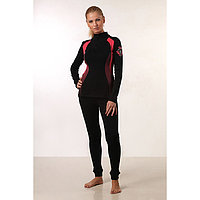 Комплект женский термо (джемпер, лосины), цвет чёрный/коралл, размер 58