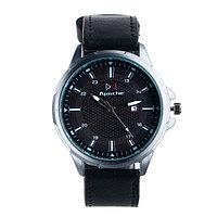 """Часы наручные мужские """"Аранс"""" с датой, d=4.5 см, чёрный ремешок"""