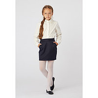 Блузка для девочки, цвет молочный, рост 122 см