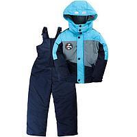 Комплект (куртка, полукомбинезон), цвет тёмно-синий, рост 122 см