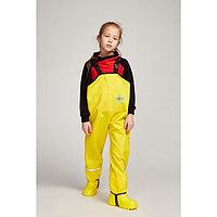 Полукомбинезон детский, непромокаемый, цвет жёлтый однотон, рост 116 см