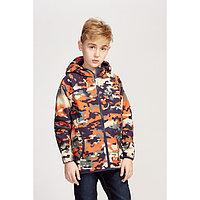 Куртка для мальчика, цвет синий камуфляж, рост 116-122 см