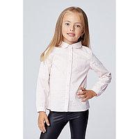 Рубашка для девочки, цвет розовый рис., рост 104 см