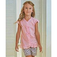 Блузка для девочки MINAKU Cotton collection: Romantic, цвет розовый, рост 98 см