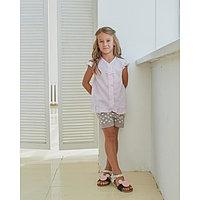 Блузка для девочки MINAKU: cotton collection romantic цвет сиреневый, рост 104 см