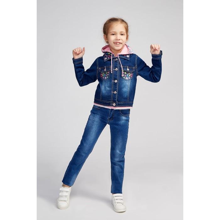 Куртка для девочки, цвет синий, рост 98 см - фото 4