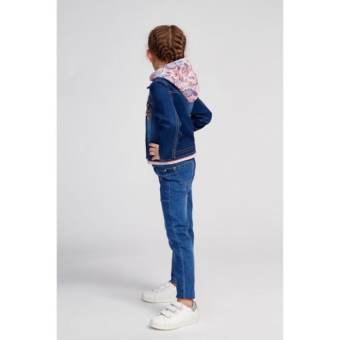 Куртка для девочки, цвет синий, рост 98 см - фото 6