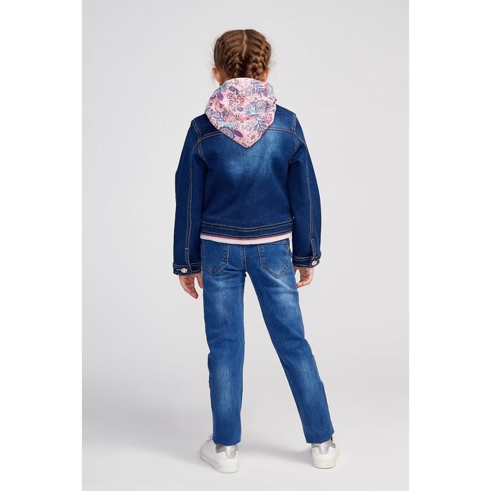 Куртка для девочки, цвет синий, рост 98 см - фото 7