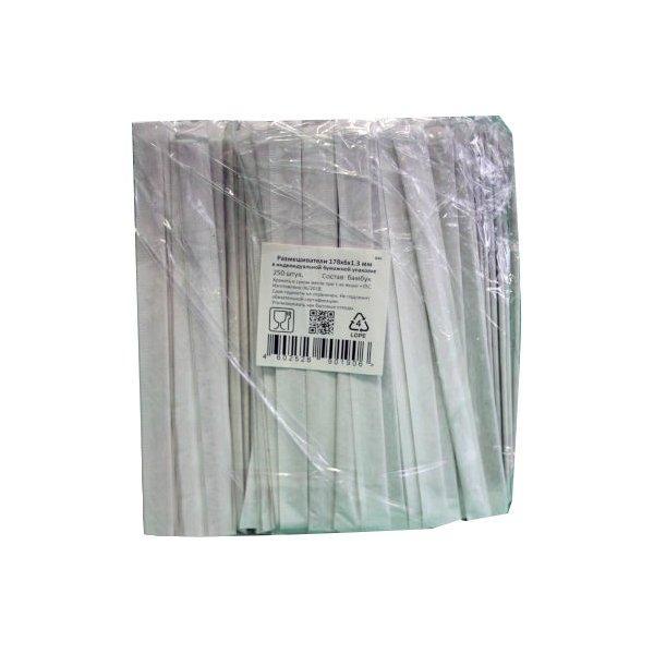 Размешиватели деревян. прямые, 180*6*1,8 мм инд.упаковка  , 250 шт
