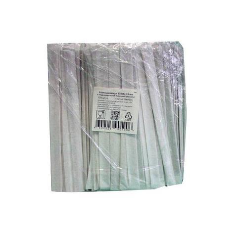 Размешиватели деревян. прямые, 180*6*1,8 мм инд.упаковка  , 250 шт, фото 2