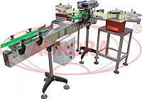Завод АВРОРА Этикетировочная линия для одновременного нанесения этикеток на выпуклые и вогнутые поверхности флаконов (фляжки) АЭ-5