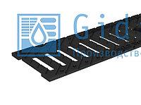 Решетка водоприемная Gidrolica Standart РВ -10.13,6.50 - чугунная щелевая Гидролика
