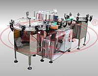Завод АВРОРА Модульная линия этикетировки и датировки АЭ-5 компакт для тары 10-500 мл