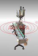 Завод АВРОРА Линейный поршневой дозатор МД-500Д3 с масляной рубашкой подогрева для фасовки густых продуктов
