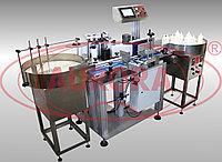 Завод АВРОРА Модульная линия этикетировки и датировки АЭ-5 для цилиндрической тары 10-360 мл с ленточным транспортером компакт