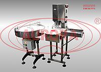 Завод АВРОРА Автомат закаточный МЗ-400Е2М с входным накопительным столом и выходным лотком для пенициллиновых флаконов