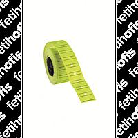 Ценник c полоской 12*21 Tanex желтый флуор.