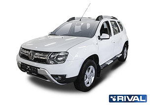 Пороги + комплект крепежа, RIVAL, Renault Duster 2011-2015-2020, фото 2
