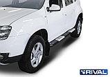 Пороги + комплект крепежа, RIVAL, Renault Duster 2011-2015-2020, фото 3