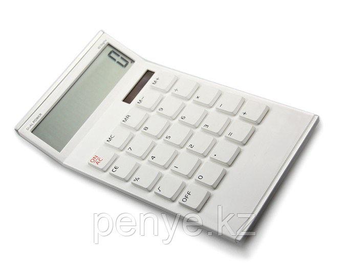 Калькулятор/часы/будильник белый