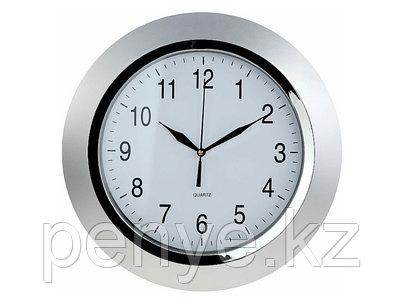 Настенные часы серебристые