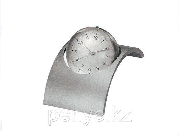 Настольные часы с фоторамкой серебристые