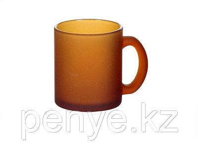 Кружка коричневая стеклянная