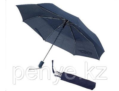 "Зонт складной автомат (21""*14) темно-синий"