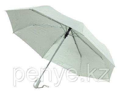 """Зонт складной автомат (21""""*14) серебристый"""