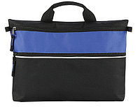 Конференц-папка с двумя замочками черно-синяя