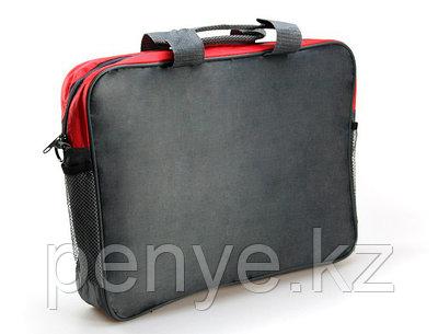 Конференц-сумка серо-красная