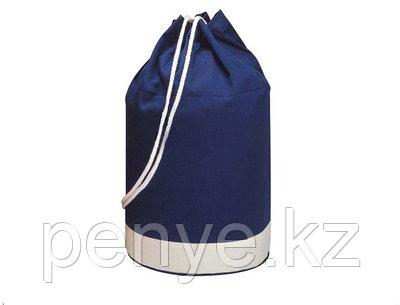 Двухцветная х/б сумка синяя