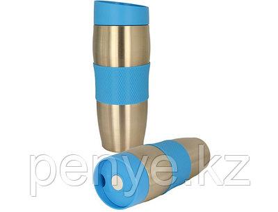 Термокружка металлическая с силиконовой вставкой 380 мл