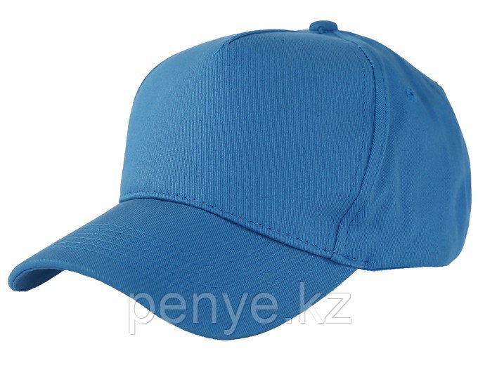 Бейсболки 5 панельные, 100% хлопок, голубая