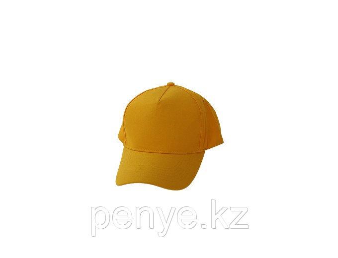 Бейсболки 5 панельные, 100% хлопок, желтая