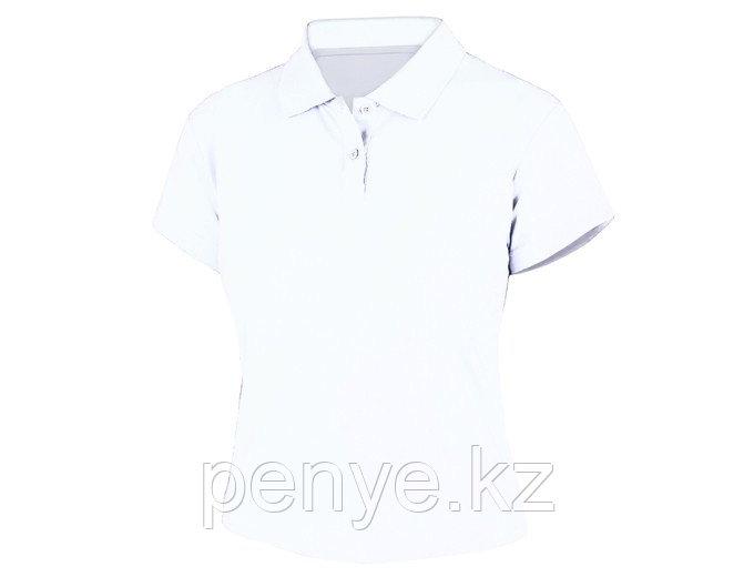 Женская футболка поло (95% хлопок, 5% эластан, плотность 200 г)